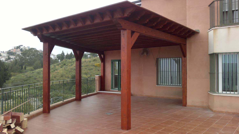 Pergolas p rgolas de madera para terrazas for Modelos de ceramicas para terrazas